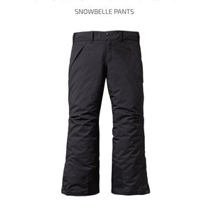 Patagonia Girl's Black Ski Snowbelle Pants H2no